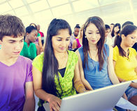 Large Group of Student Conference Seminar Training Concept royalty free stock photos