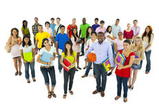 Large Group student Going School Community Concept.  royalty free stock photos