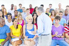 Large Group of Student in Lecture Hall Royalty Free Stock Image