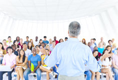 The Large Group Student The Lecture Hall Concept Stock Photography