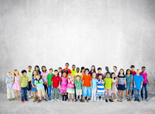 Large Group of Student Standing Royalty Free Stock Photos
