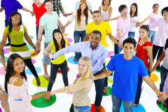 Large Group of Students Connecting with Each Other Royalty Free Stock Photo