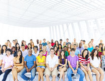 Large group of Students in lecture room Stock Image