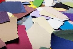 Colorful Torn Paper Background Stock Photo