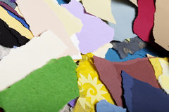 Colorful Torn Paper Background Stock Photography