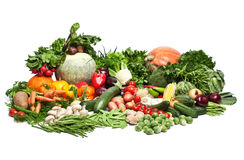 Large group of vegetables stock image