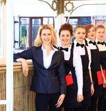 Large group of waiters Stock Images