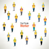 A large group of worker gather design. A large group of worker gather together icon design stock illustration