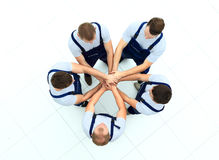Large group of workers Stock Photography