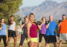 Large Group Working Out Stock Photos