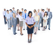 Large Group of World Business People Stock Image