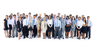 Large Group of World Business People Stock Photography