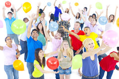 Large Group of World People Celebrating Royalty Free Stock Photos