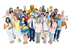 Large Group of World People stock photography