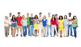 Large Group of World People on White Background Royalty Free Stock Image