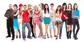 Large group of young people Royalty Free Stock Photo
