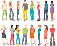 Large group of young people Royalty Free Stock Photography