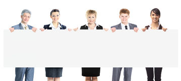 Large group of young smiling business people. Stock Photo