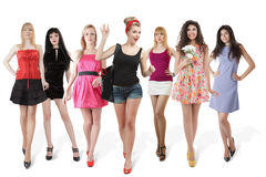 Large group of young women Royalty Free Stock Image