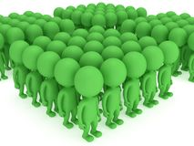 A large groups of people stand on white Royalty Free Stock Photos
