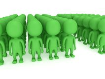 A large groups of people stand on white Royalty Free Stock Images