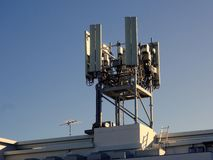 Large GSM Mobile Phone Tower Stock Image