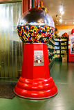 Large gumball machine. Giant gumball machine dispenses large gumballs for 50 cents Royalty Free Stock Photography