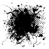 Large halftone ink splat Stock Image