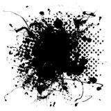 Large halftone ink splat Stock Image