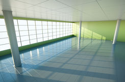 Large hall. Large empty hall or office. 3D render royalty free illustration