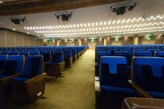 Large hall for presentations at the Kremlin Palace Stock Images