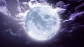 Large Halloween moon Stock Image