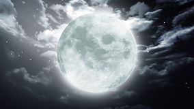 Large Halloween moon dark sky Royalty Free Stock Photos