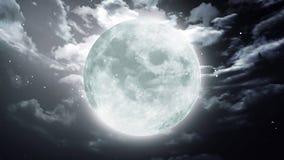 Large Halloween moon dark sky Royalty Free Stock Photos