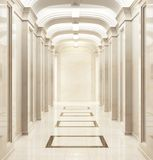 Large hallway in a classic style. Large beautiful hallway in a classic style royalty free stock image