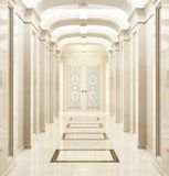 Large hallway in a classic style. Large beautiful hallway in a classic style stock photography