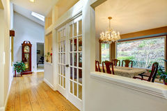 Large hallway and dining room inteior. Stock Image