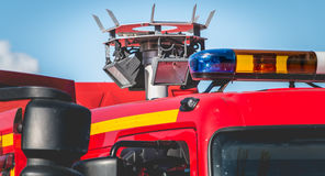 Large halogen projector on a vehicle extrication Stock Photos