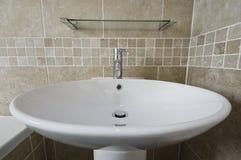 Large hand wash basin. Large round bowl like ceramic hand wash basin Royalty Free Stock Photos