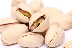 Large handful of pistachios. See my other works in portfolio Royalty Free Stock Photography
