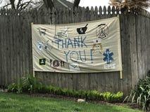 Gratitude, Thank You Sign, Coronavirus, COVID-19, Rutherford, NJ, USA