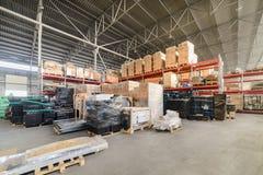 Large hangar warehouse industrial and logistics companies. Stock Photos