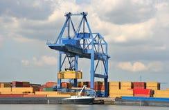Large Harbor Crane Stock Photo