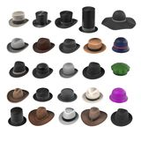 Large hats collection Royalty Free Stock Photos