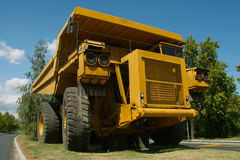 Large haul truck. Ready for big job in a mine Royalty Free Stock Photo