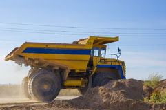 Large haul truck. Ready for big job in a mine Royalty Free Stock Photography