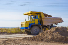 Large haul truck. Ready for big job in a mine Stock Photography