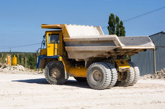 Large haul truck. Ready for big job in a mine Royalty Free Stock Image