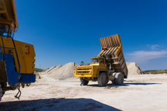 Large haul truck. Ready for big job in a mine Royalty Free Stock Photos