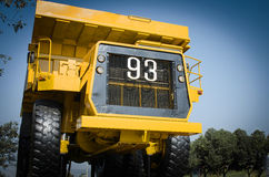 Large haul truck. Ready for big job in a mine. Low saturation and Royalty Free Stock Image